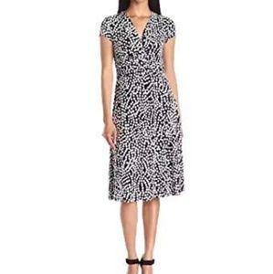 Anne Klein Polka Dot Print Dress